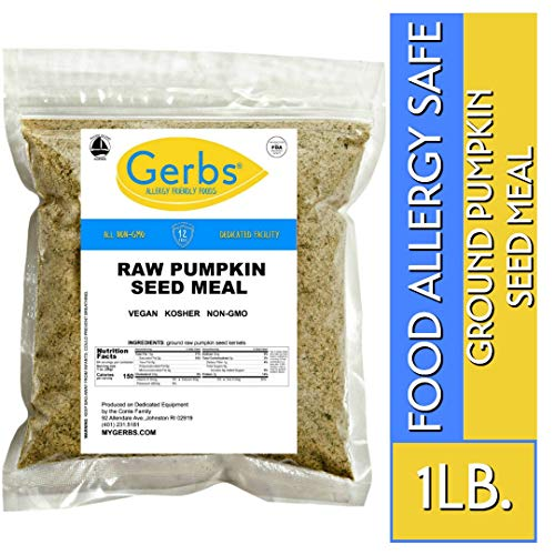Ground Pumpkin Seed Meal, 1 LB. By Gerbs - Top 14 Food Allergy Free & NON GMO - Vegan & Keto Safe - Cold Milled Full Oil Seed Protein Powder ()