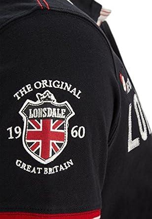 Lonsdale Polo sellindge Men Slim Fit Polo Camiseta - Black Negro ...