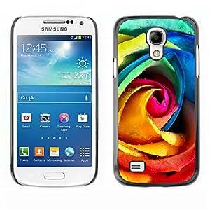 All Phone Most Case / Oferta Especial Duro Teléfono Inteligente PC Cáscara Funda Cubierta de proteccion Caso / Hard Case Samsung Galaxy S4 Mini i9190 // Rainbow Rose