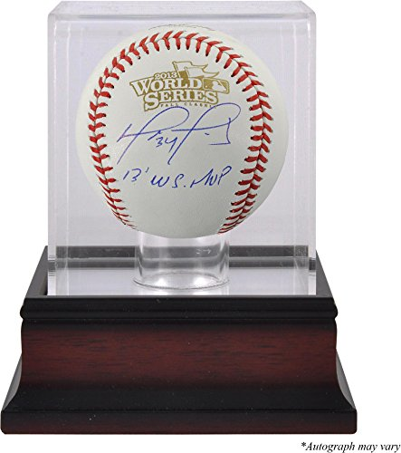David Ortiz Boston Red Sox Autographed World Series Logo Baseball with