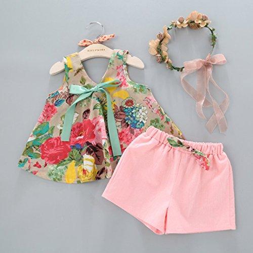 Enfants D'été Des Filles Naisedier Tenues Robe Imprimé Floral De La Mode Sans Manches Avec Le Jeu De Vêtements Pour Enfants Short Jeu Bébé