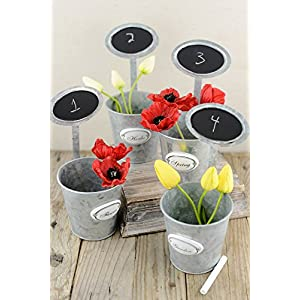 "12 Table Number Garden Planters with Chalkboards 9"" - Excellent Home Decor - Indoor & Outdoor 44"