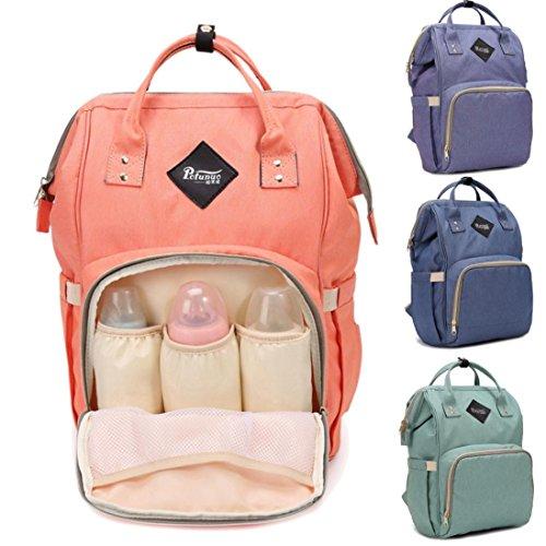 LILICAT Bolso de mamá Bolsa de bebé de gran capacidad Bolsa de pañales Bolsa de viaje Bolsa de enfermera de diseño Naranja