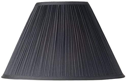 Pleated Lamp Shades - Black Mushroom Pleated Lamp Shade 7x17 x 11.5 (Spider)