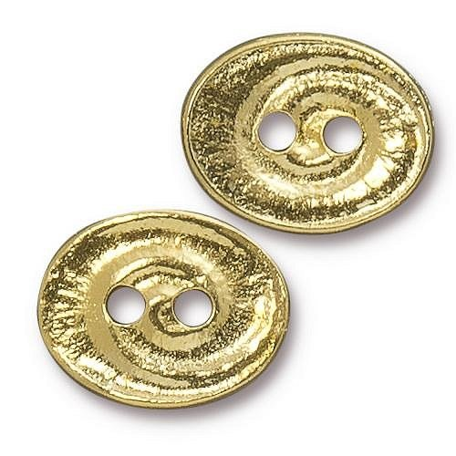 Gold Swirl Button - 9