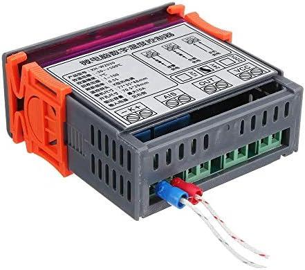 LUZIWEN DC12V / DC24V / AC220 Digitale del termostato del regolatore di Temperatura ad Alta Temperatura Allarme K Ingresso -30~999 (Size : DC24)