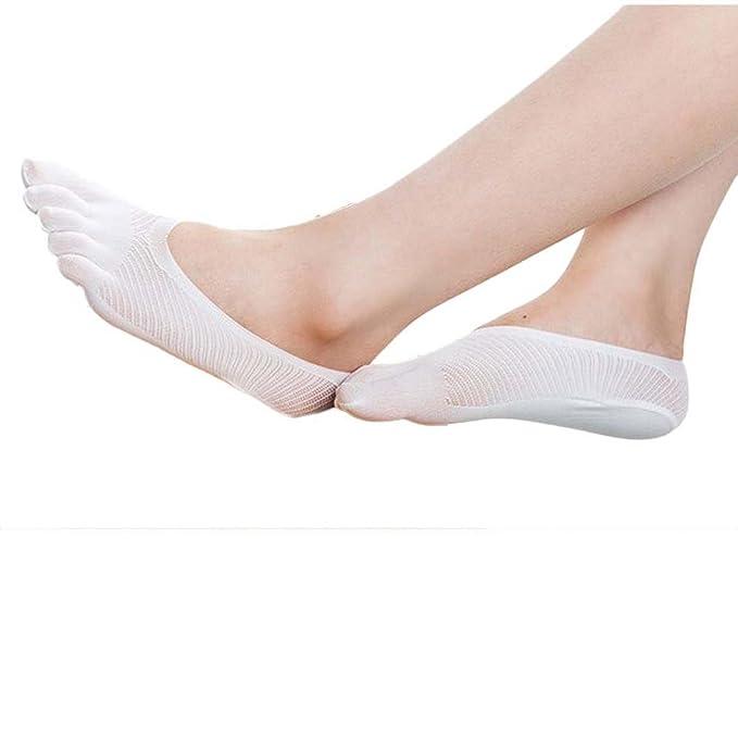 BaZhaHei-Calcetines Calcetines Socks by Invisibilidad de los Calcetines de la Punta de Cinco pies