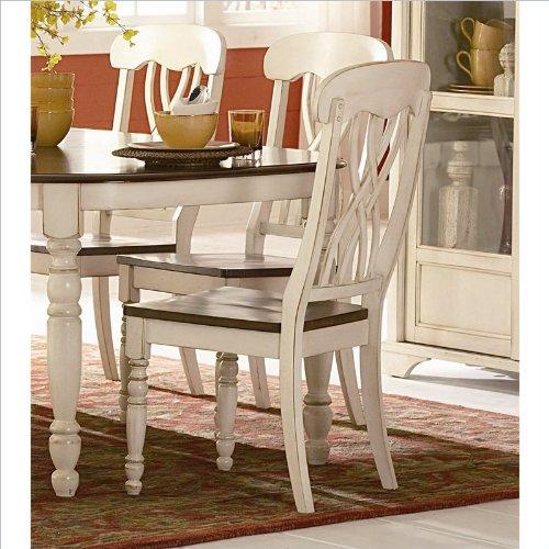 (Homelegance Ohana Side Chair - Set of 2 (Antique White))