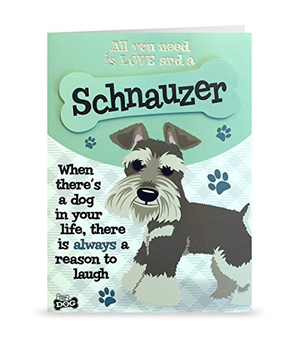 Wags and Whiskers Personable Funny WagsWhickers Card - Miniature Schnauzer, Multi (204020032)
