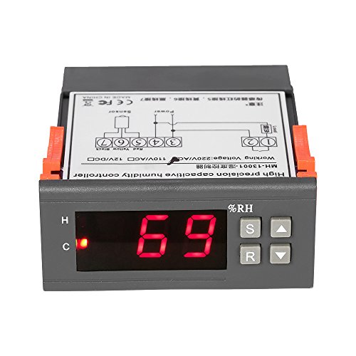 Walmeck Mini Digital Air Humidity Control 10A 220V Controller Measuring Range 1% ~ 99% with Sensor