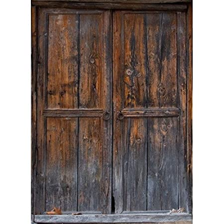 Amazon Printed Photography Background Rustic Door Titanium Cloth TC1190 Backdrop 5x6 Ft 60x80 Better Then Muslin Or Canvas Camera Photo
