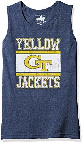 NCAA Georgia Tech Children Girls Sleeveless Tee,14,Midnight Blend (Tech Sleeveless Shirt)