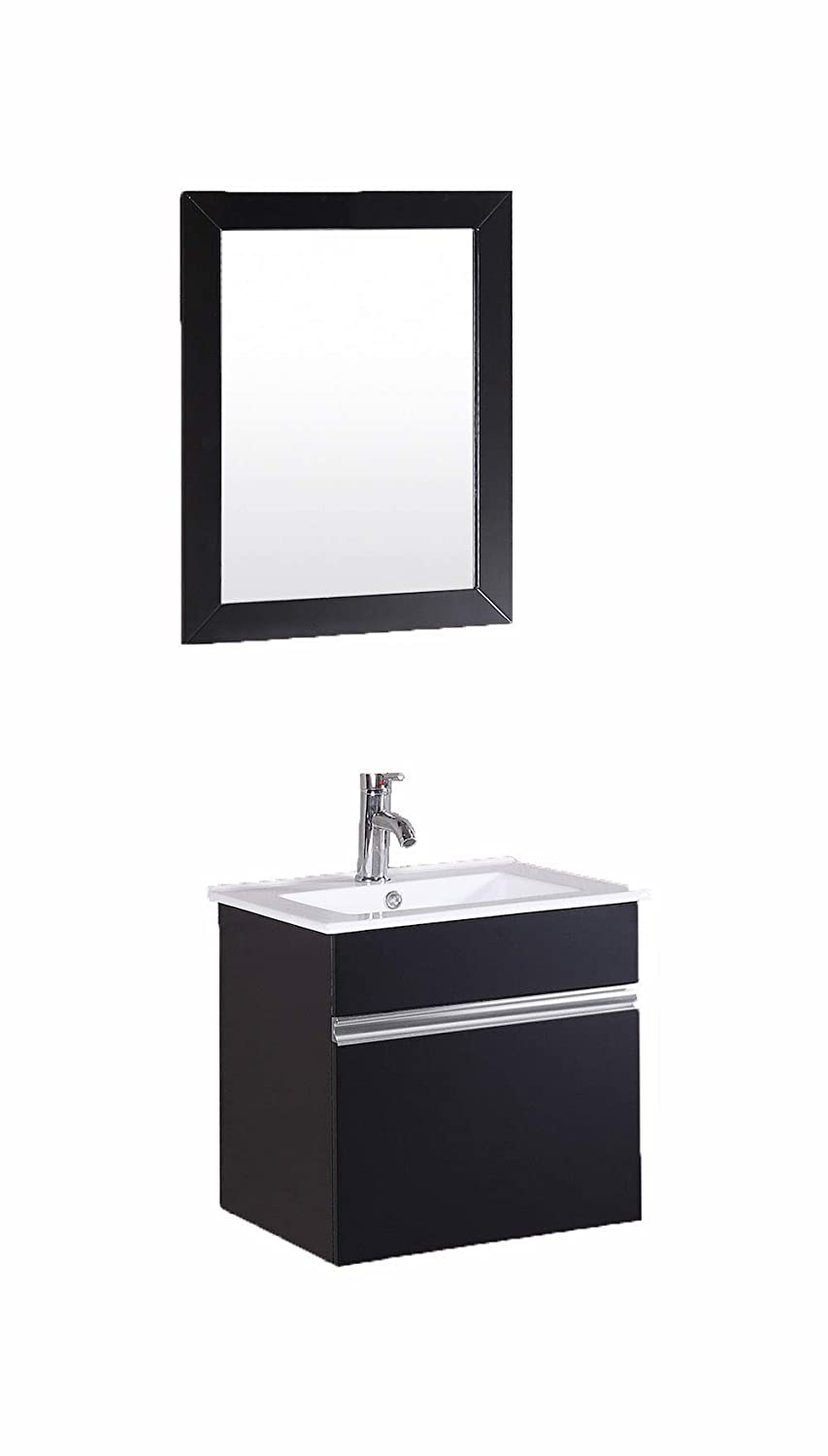 Petronius 20 wide x 18 deep x 20 high small tiny black modular wall mount hung floating modern bathroom vanity sink amazon com