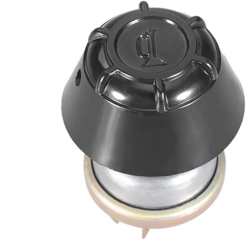 Material de aluminio Luz impermeable//interruptor de bocina Bot/ón pulsador para tractor K300657 Plata Negro Interruptor de bot/ón pulsador 1502378C1,12V ABS