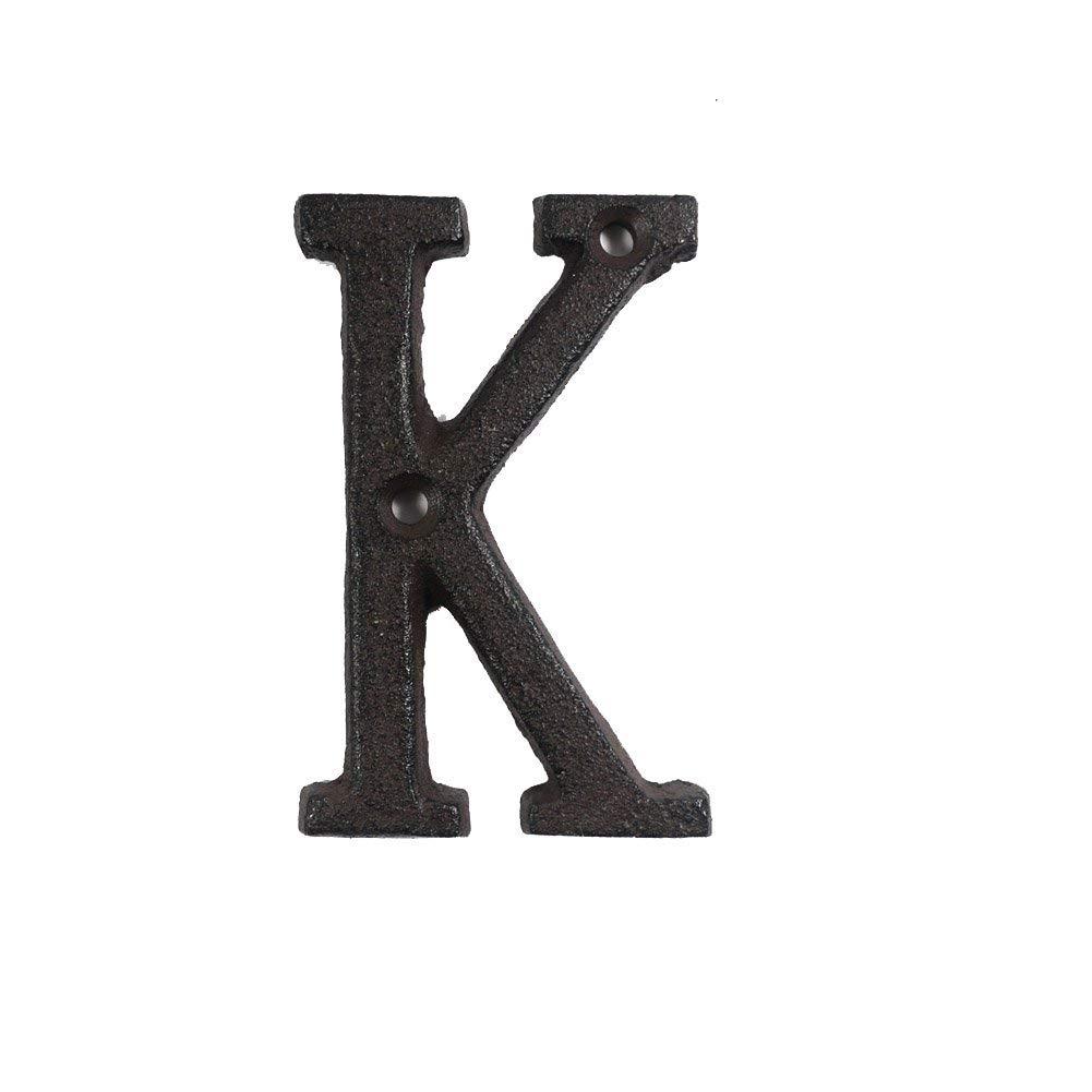 ieenay N/úmeros de Letras de Metal Hierro Fundido Decoraci/ón Casa Signo Placa de Puerta DIY Caf/é Pared