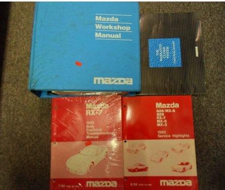 1995 mazda rx7 rx 7 service repair shop manual set factory oem book Mercedes-Benz Wiring Diagrams