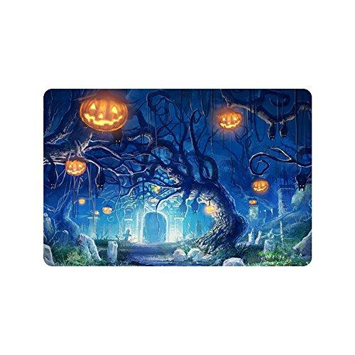 Rossne G sun Doormat Decorative Doormat Pumpkin Halloween