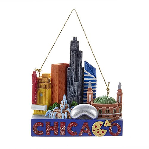 Kurt Adler Chicago Travel Resin Ornament