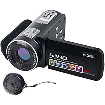 """SEREE Video Camcorder Full HD 1080p Digital Camera 24.0MP 18x Digital Zoom 2.7"""" LCD 270° Rotation Screen With Remote Control"""