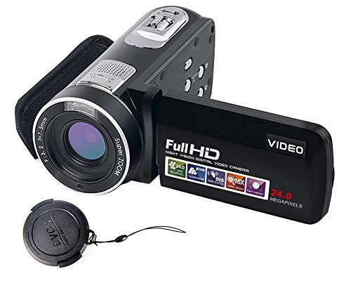 "SEREE Video Camcorder Full HD 1080p Digital Camera 24.0MP 18x Digital Zoom 3.0"" LCD 270° Rotation Screen With Remote Control"
