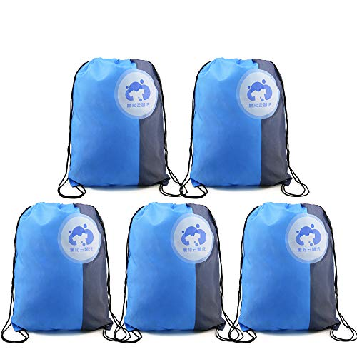 Drawstring Bags Backpacks Bulk 5 Pack Custom Gym Sports String Bags Backpacks Personalized Cinch Bags for Soccer and Basketball Team