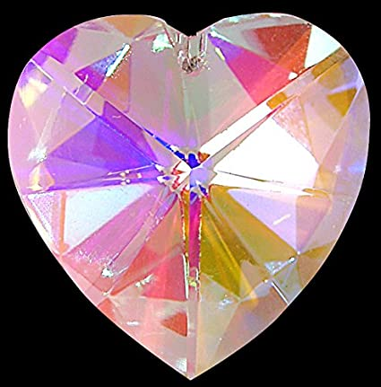 36e9b3ae3 Hanging Crystals Pretty Heart Shaped Window Rainbow Suncatcher - Great  Stocking Filler/New Baby/Moving House Gift: Amazon.co.uk: Kitchen & Home