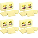 Post-it Super Sticky Notes Canary Yellow, 3in x 3in - Total of 48 Pads