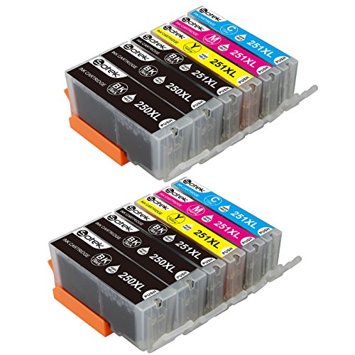Inkjet Magenta Model Cartridge (PGI-250XL CLI-251XL Ink Cartridges 12 Pack (2 Set + 2 Black, No Gray), Sotek High Yield Ink Combo Pack for Canon Pixma MX922 MX920 MG5520 MG5420 MG6320 MG7120 MX722 iP7220 iP8720 iX6820 Printers)