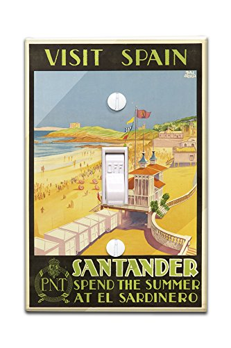 visit-spain-santander-vintage-poster-artist-baldrich-javier-c-1930-light-switchplate-cover