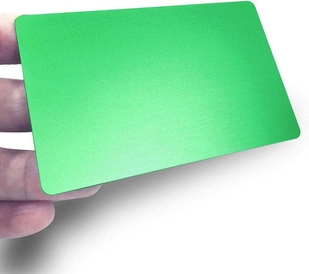 3.4X2.1X0.031 inch Black Blank,10PCS ebamaz Metall Business Karten aus eloxiertem Aluminium Plaque Teller 86/x 54/x 0.8/mm 86X54X0.8mm