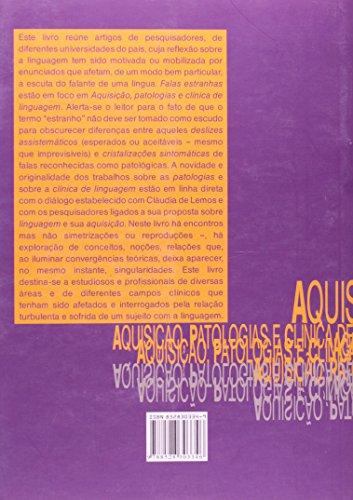 Aquisição, Patologias E Clinica De Linguagem