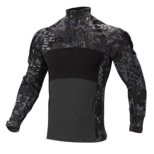 SINAIRSOFT Tactical Camouflage T-Shirt, Men's Long Sleeve Combat Shirts Camo ()