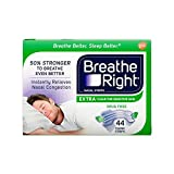 Breathe Right Extra Clear Drug-Free Nasal Strips for Nasal Congestion Relief, 44 count