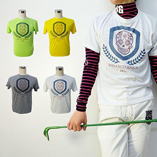 エンブレムスカルTシャツ//M~4L/速乾/伸縮【】【メンズ】【ゴルフウェア】大きいサイズ/golf/限定/お洒落/