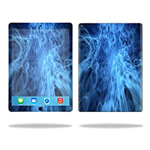 """MightySkins Protective Vinyl Skin Decal for Apple iPad Pro 12.9"""" case wrap cover sticker skins Blue Mystic Flames"""