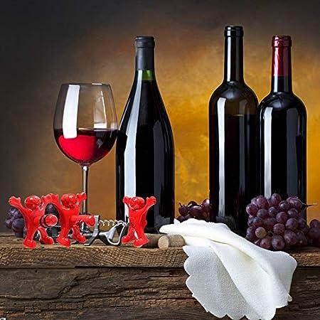 feliz hombre abridor botella, 4 pcs tapón de la botella de vino - Botella de vino Sacacorchos - botella de cerveza Opener- Todo-en-uno - Bebidas tapón de la botella
