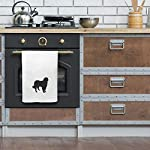 Style In Print Custom Decor Flour Kitchen Towels Akbash Silhouette Pets Dogs Cleaning Supplies Dish Towels Design Only 10