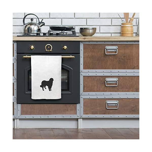 Style In Print Custom Decor Flour Kitchen Towels Akbash Silhouette Pets Dogs Cleaning Supplies Dish Towels Design Only 4