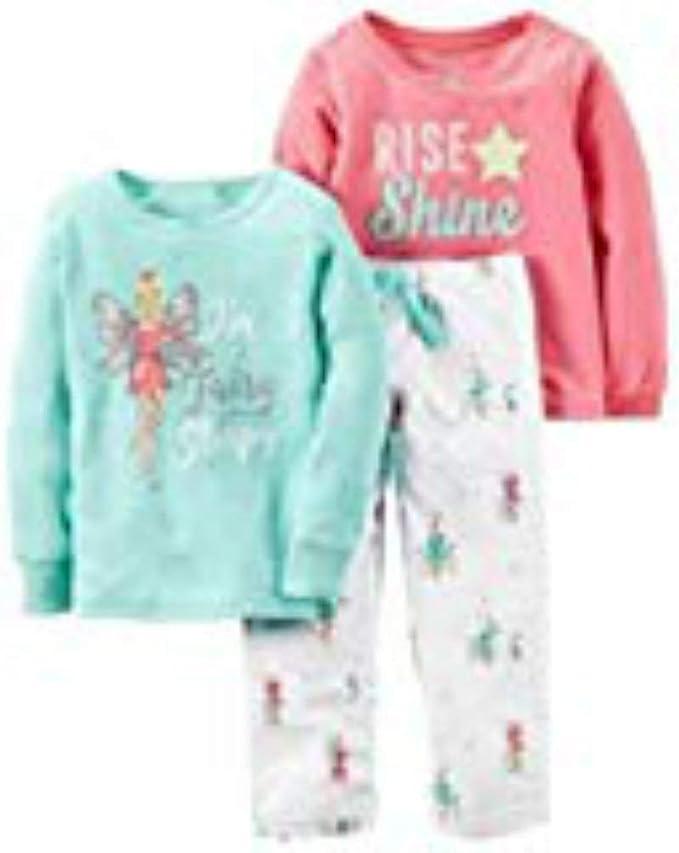 Carters Little Girls 3-Piece Pajama Set