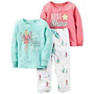 41c59c13de41 Amazon.com  Carter s Little Girls  3-Piece Long Sleeved Pajama Set ...