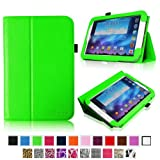 Fintie Slim Fit Folio Case Cover Support Automatic Sleep/Wake Feature for Samsung Galaxy Note 8.0 inch Tablet GT-N5100 / N5110 - Green