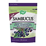 Sambucus Zinc Lozenges with Elderberry and Vitamin c, Mint Flavor, Gluten Free, Kosher Certified, 24 Count (Packaging May Vary) Review