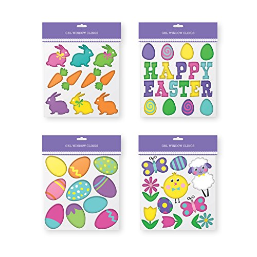 ings - Pack of 4 Sheets of Easter Window Sticker Decorations. (Easter Window)