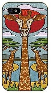 Giraffe - iPhone 4 / 4S black plastic case / Animals and Nature, florentino glass by ruishername