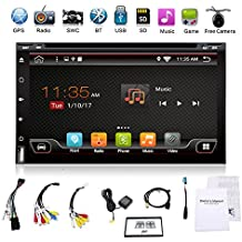 """2G 32G Wifi Model Android 6.0 4 Core 6.95"""" Universal Car DVD CD player 2 din Stereo Navigation support Bluetooth OBD DBA Subwoofer Mirror Link USB up to 128GB free Camera & External Microphone"""