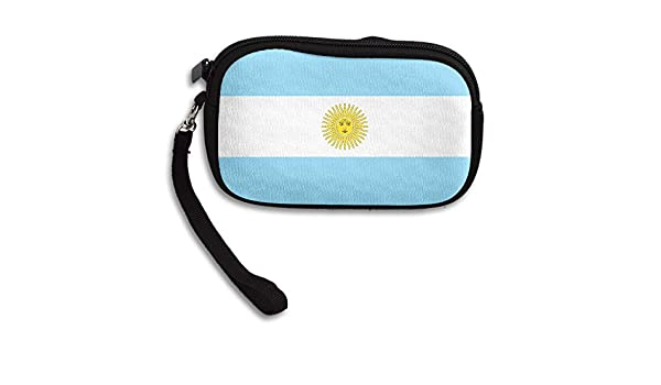 Argentinian Flag Deluxe Printing Small Purse Portable Receiving Bag