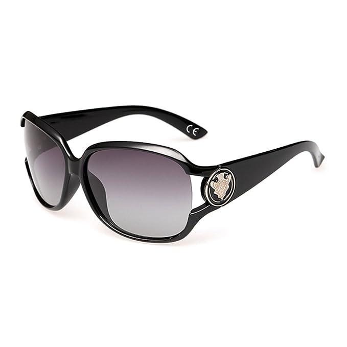 dd2f79456f3d1 VeBrellen Gafas de Sol Polarizadas para Mujeres Moda Protección UV (Black)