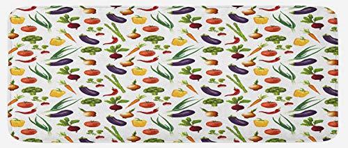 Lunarable Vegetables Kitchen Mat, Cooking Yummy