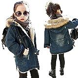Adorable-BBGirl-Kids-Little-Big-Girls-Winter-Hooded-Fur-Collar-Thick-Denim-Jacket-Coat-Outwear