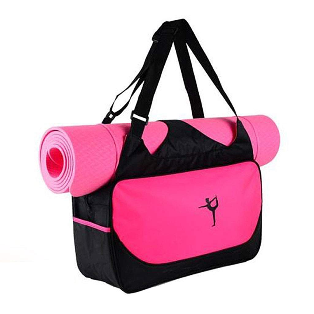 KINTRADE Estera para Bolsa de Yoga Estuche para Bolso Impermeable para Deportes Gimnasio Bolso Funda New Hot Pink